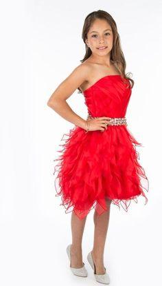 vestido-corto-rojo-para-nina