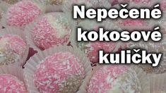 Kokosový suk - kuličky / Recept na kokosové kuličky / Nepečené vánoční c... Icing, Cereal, Sweet, Recipes, Food, Youtube, Candy, Meal, Rezepte
