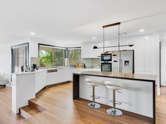 Verto Kitchens   Benowa Open plan kitchen with feature island bench. Island Bench, Quality Kitchens, Bespoke Kitchens, Open Plan Kitchen, Furniture, Home Decor, Decoration Home, Room Decor, Home Furnishings