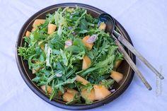 Sommerlicher Rucola-Blattsalat mitMelone