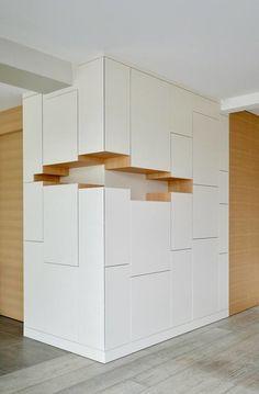 Hoeilaart Cube Furniture, Home Decor Furniture, Diy Home Decor, Furniture Design, Living Room Partition Design, Room Partition Designs, Bedroom Furniture Inspiration, Home Interior Design, Interior Design Inspiration