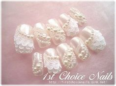 ブライダル ネイル レース - Google 検索 Wedding Dresses, Nails, Google, Bride Dresses, Finger Nails, Bridal Gowns, Ongles, Weeding Dresses, Wedding Dressses