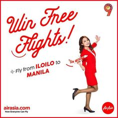 #GiveawayAlert ~ Win an Iloilo-Manila round trip ticket courtesy of AirAsia! <3 Visit my Facebook page - www.facebook.com/GarciaDhadha - for the mechanics! Round Trip, Manila, Giveaways, Ticket, Philippines, Ink, Facebook, India Ink