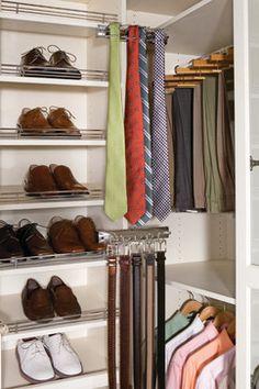 Walk In Closet Tie And Belt Racks   Contemporary   Closet   New York