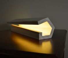 Modern Wood Lamp by NomadWoodworkingShop on Etsy