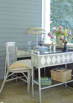 Painting wicker furniture on pinterest painting wicker - Wicker furniture paint colors ...