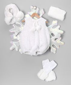 Take a look at this Princess Paradise White Snowflake Fairy Dress-Up Set - Infant by Happy Hauntings Collection on #zulily today!