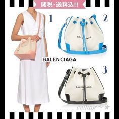 ≪STORY掲載≫BALENCIAGA★Canvas and Leather Bucket Bag 3色