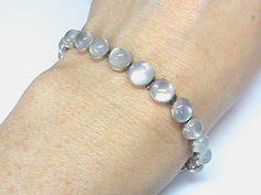Vintage Art Deco Sterling Silver Moonstone Bracelet from forget-me-not-flowers on Ruby Lane