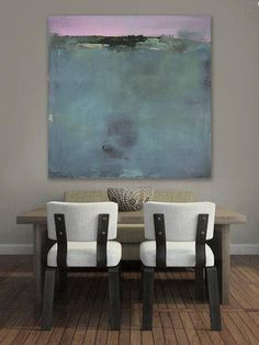 Ready to Hang Abstract Landscape Canvas Print New England