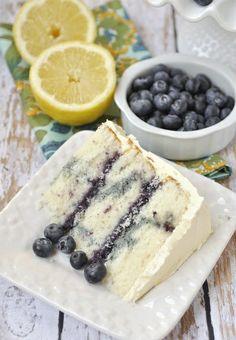 Lemon Blueberry Marble Cake