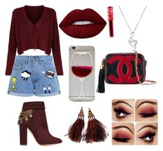 """Sin título #10"" by daniela-reque on Polyvore featuring Paul & Joe Sister, Aquazzura, Louis Vuitton, Chanel, Lime Crime y BERRICLE"