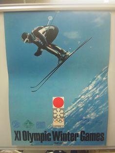◎札幌オリンピック ポスター スキー 記念スタンプ付 - ヤフオク!