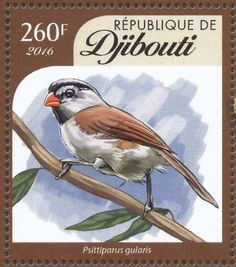 Grey-headed Parrotbill stamps - mainly images - gallery format