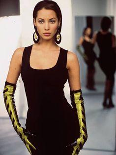 "ohyeahpop: ""Christy Turlington in Jean Paul Gaultier, Vogue Ph. Fashion Kids, Fashion Male, Fashion Outfits, Christy Turlington, 90s Models, Young Models, Role Models, Rachel Green, Grunge Style"