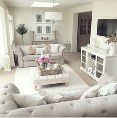 A couple of months ago I did a mini room makeover of my living room (you can see the full post here). New Living Room, Living Room Interior, Home And Living, Mauve Living Room, Sitting Room Decor, Lounge Decor, Lounge Ideas, Home Bedroom Design, Living Room Designs