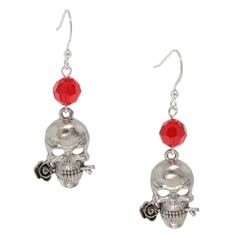 Skull and Roses Earrings | Fusion Beads Inspiration Gallery
