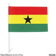Flag of Ghana Car Flag