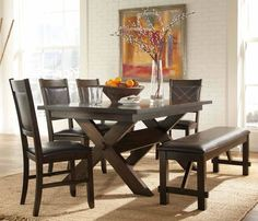 cool Lovely Black Dining Room Table Set 38 In Home Decoration Ideas ...
