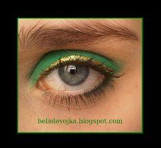 Gold and green eye make up for the sultry thursday ;) http://beladevojka.blogspot.com/2012/12/grun-gold-sultry-thursday.html
