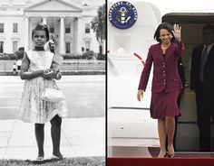 """The young girl who could not order a hamburger from a Woolworth's lunch counter would go on to become secretary of state, yes, America has a way of making the impossible seem inevitable in retrospect."" -Condoleezza Rice"