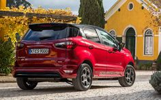 Ford EcoSport 2018 Ford Ecosport, Car Ford, Crossover Cars, Ford Sync, 17 Inch Wheels, Blue Candy, Android Auto, Aluminum Wheels, Cars