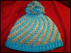 What a great spiral hat! : free pattern link