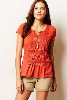 Cuyama Tee - anthropologie.com pretty, love the color and the detailing