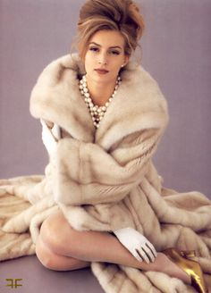 Mink Ivory Fur Coat