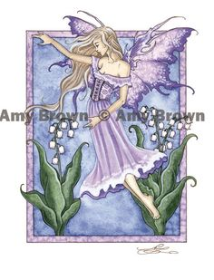 """""""Lily of the Valley - May"""" PRINTS-OPEN EDITION - Flower Faeries - Amy Brown Fairy Art - The Official Gallery"""