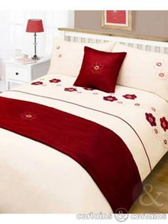 Subtle yet stunning embroidery is used on this #bedding