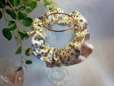 "Japanese hand kawaii shushu / Reversible and Frilled Scrunchy / Scrunchie - 3.9"" (10cm) / #45 by YuminaCafe, ¥500"