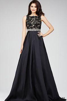 Black A-line Dress 26458