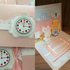Convite para Chá de bebê Alice no País das Maravilhas feito por: Facebook Miss Gift festas: