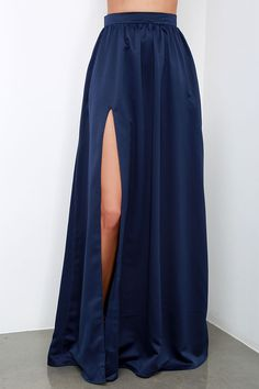 'Twas a Dream Navy Blue Maxi Skirt at Lulus.com!
