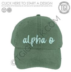 eff68d08 TGI-Alpha Omicron Pi Hat Design | Sorority PR & Recruitment | Design  Library | TGI Greek