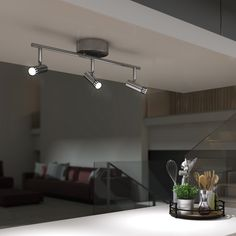 Personalize your decor with the unique style and black chrome accents of the Era Their cylindrical lighting rails fit in anywhere. Lighting Ideas, Outdoor Lighting, Modern Track Lighting, Modern Industrial Decor, Accent Lighting, Kitchen Island, Chrome, Indoor, Rooms