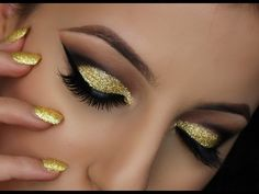 20 Metallic Eye Looks and Tutorials for New Year's Eve - Pampadour
