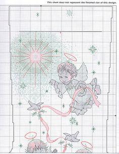 Bota navideña en punto de cruz ~ Solountip.com