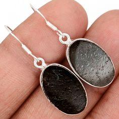 Shungite 925 Sterling Silver Earrings Jewelry SNGE224 - JJDesignerJewelry