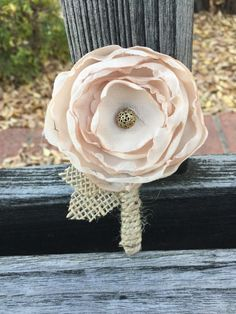 Fabric boutonniere, fabric flower boutonniere, mens boutonniere