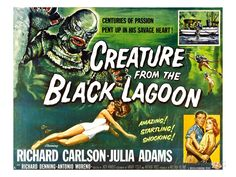 Creature From the Black Lagoon Movie Poster Fridge Magnet x 3 inches) hs Size: 2 x 3 inches Material: Metal and Hard Plastic The Highest Quality Magnet Available Made in USA Julie Adams, Sci Fi Films, Movie Poster Art, Film Posters, Cinema Posters, Classic Horror Movies, Scene Image, Black Lagoon, Comics
