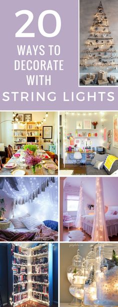 Who says string lights are just for Christmas? Thanks to these decorating ideas I now have an excuse to make my home twinkly all year round!
