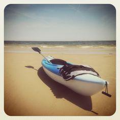 My kayak on Chics Beach.