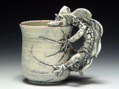 Sharon Reay : Dragon Mug- make an animal handle