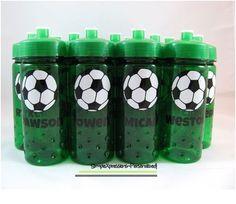 Soccer personalized kids water bottle