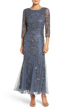 Free shipping and returns on Pisarro Nights Embellished Mesh Gown at Nordstrom.com. Thousands of glimmering beads and sequins sparkle around a mesh-veiled dress designed with beautiful drape and flow accentuated by godets.