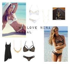 """We Love Nina Agdal in Beach Bunny Swimwear"" by theorchidboutique ❤ liked on Polyvore featuring Beach Bunny"