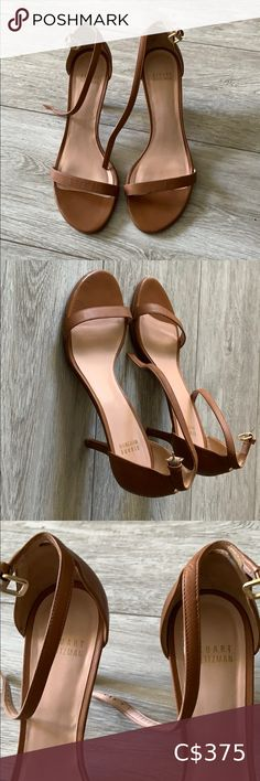 Stuart Weitzman The NUDIST sandal 45mm heel Beautiful like new Nudist Sandal by Stuart Weitzman. I'm perfect condition with clean new soles. Stuart Weitzman Shoes Sandals Black Leather Sandals, Leather Clogs, Nude Sandals, Shoes Sandals, Stuart Weitzman Sandals, Jelly Sandals, Heels, Catwalk, Designers