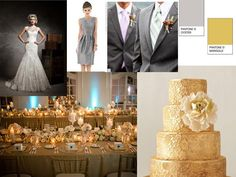 Gold : PANTONE WEDDING Styleboard : The Dessy Group